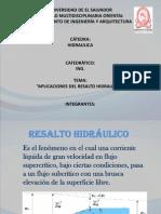 RESALTO HIDRÁULICO