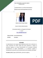 El órgano administrativo y su estructura orgánica