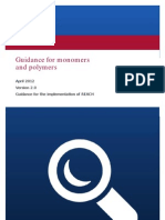 Guidance for Monomers and Polymers