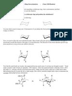 Cyclohexane Ring Stereochemistry
