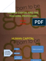 Human Capital and the Teaching Profession