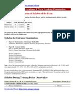 National Defence Academy & Naval Academy Examination Syllabus Www.upscportal.com