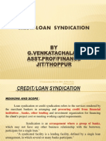Credit Syndication