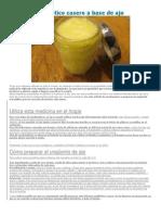 Bálsamo antibiótico casero a base de ajo