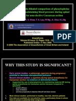 phphenylephrine vs ephedrinerine