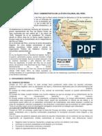 ORGANIZACIÓN POLITICA Y ADMINISTRATIVA EN LA ETAPA COLONIAL DEL PERU