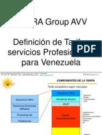 Definicion de Tarifas Para Servicios Profesionales en Venez