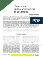 Buen Vivir Germinando Alternativas Al Desarrollo