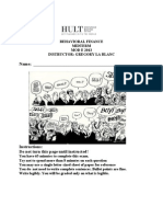 Hult Behavioral Finance 2013 Midterm Solutions