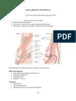 Anal Abscess and Fistula