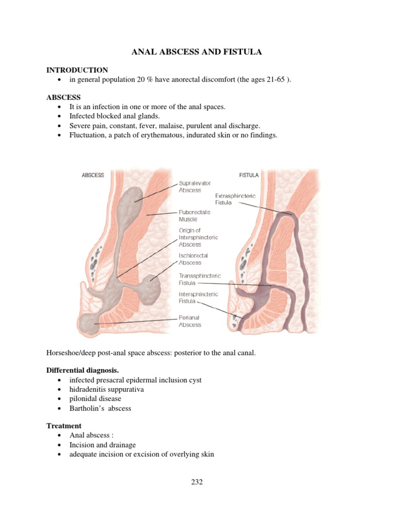 Syndrome with anal fistula