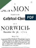 Humphrey Prideaux - Thanksgiving sermon 1702