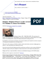 Belgium_ 'Religion Of Peace' Leader Arrested After Calling For Muslims To Attack Non-Muslims _ MidnightWatcher's Blogspot