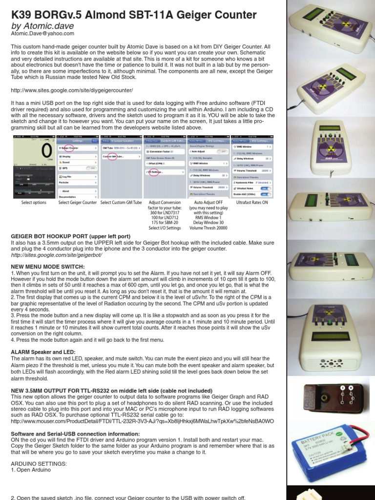 K39 Manual | Usb | Arduino