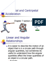 Tangential and Centripetal Acceleration - Chapter 7.2