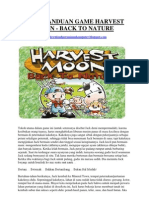 Buku Panduan Game Harvest Moon Back to Nature
