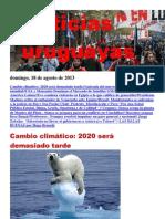 Noticias Uruguayas Domingo 18 de Agosto Del 2013