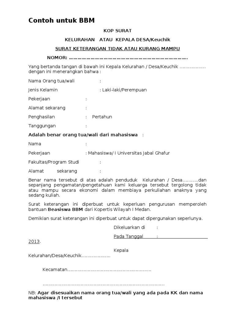 contoh surat keterangan penghasilan karyawan wiraswasta dan orang tua surat keterangan pe Surat Keterangan Penghasilan Orang Tua Dari Desa