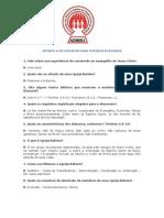 apostila DIÁCONOS - QUESTIONÁRIO
