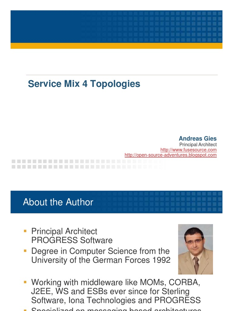 5-ServiceMix-Topologies-Andreas-Gies pdf | Network Topology