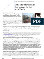 Political Economy of Federalism in Pakistan and Movement for Self-Determination in Sindh