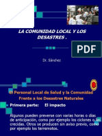 La Comunidad Local y Los Desastres Naturales