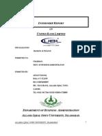 67475405 Internship Report Ubl