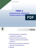 Tema 2 Formulas Empiricas y Moleculares.ppt