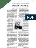 Serge Latouche e La Decrescita