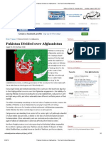 Pakistan Divided Over Afghanistan