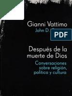 Después de la muerte de Dios - Gianni Vattimo & John D. Caputo
