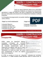 DISEÑO Y CONSTRUCCION DE PAGINAS WEB