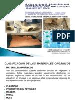 Clasificacion de Los Materiales Organicos