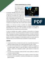 APORTES E IMPORTANCIA DE LA FÍSICA