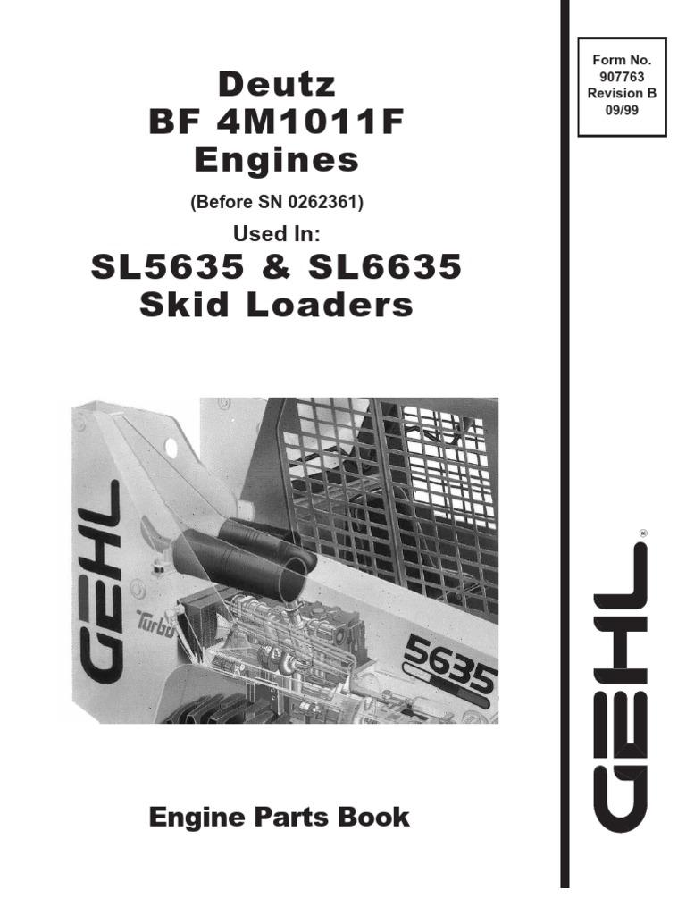Deutz BF4m1011F Engine Service Parts Manual Rev B