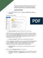 En Microsoft Office proteger doc.docx