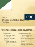 ORIGEN Y LEGITIMIDAD DEL PODER POLÍTICO