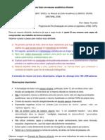Resumo Eficiente - Passo a Passo (Prof. Cleber Tourinho)