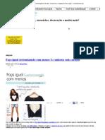 Alvejante _ Customização de Roupas, Acessórios e Objetos de Decoração - Customizando