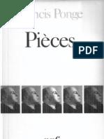 Francis Ponge - Pièces