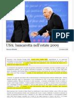 Maurizio Blondet - 23 Ottobre 2008 - Una Bancarotta Nell'Estate Del 2009