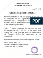 Notice for IBA