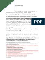PONTOS INTERESSANTES DA CONSTITUIÇÃO DO ESTADO DO ESPÍRITO SANTO