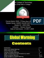 Global Warming Presentation 2009