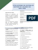Ficha Curso Auditor Interno ISO 9001