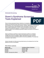 Downs Syndrome Screening Tests Explained