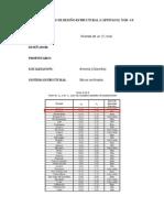 Memorias de diseño estructural NSR-10 Título E