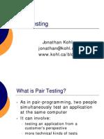 Pair Testing