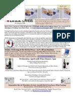 April 2009 Brick Oven Newsletter