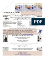 May 2009 Brick Oven Newsletter